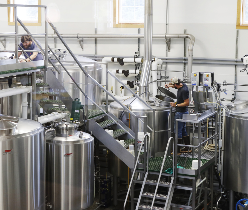 With its national reputation growing, Maine Beer Co. thinks its 6,000-square-foot brewery and tasting room is too small, so it plans a 20,330-square-foot building for brewing, bottling, storage and other functions. Joel Page/Staff Photographer