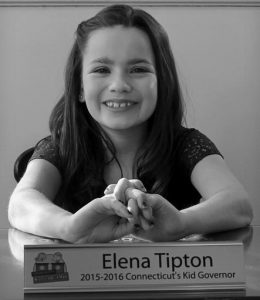 ELENA TIPTON, of East Hartford, Conn., poses in the former governor's office at Connecticut's Old State House in Hartford, Conn. Tipton, 11, was elected as Connecticut's kid governor in 2015. Seven candidates have been campaigning for the votes of their fellow fifth-graders across Connecticut to succeed Tipton in the November 2016 election. The program's goal is to spark deeper interest for all students in government and civics.