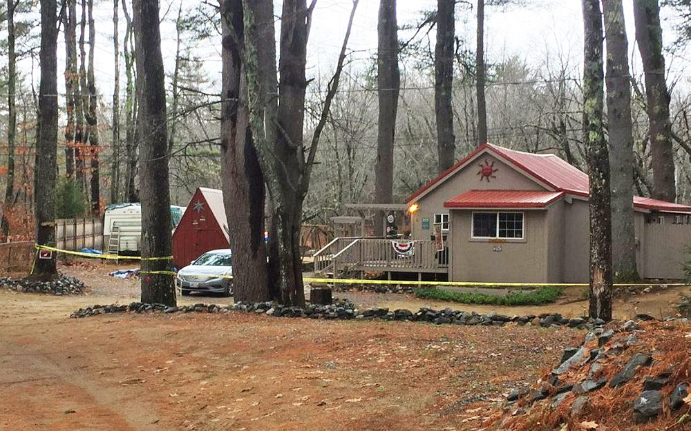 The first shooting happened at this house on Winifred Lane in Casco. Photo courtesy of WCSH