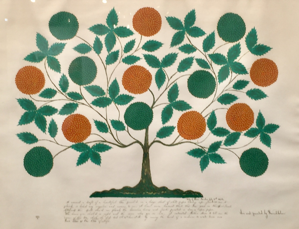 """Shaker """"gift drawing,"""" historical reproduction, serigraph on paper, ca. 1970."""
