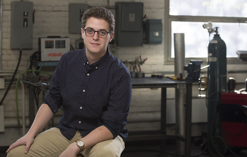 Gregory Smiddy, who'll graduate from the University of Maine in May with a mechanical engineering degree, has a job lined up at Pratt and Whitney's aircraft turbine plant in North Berwick.