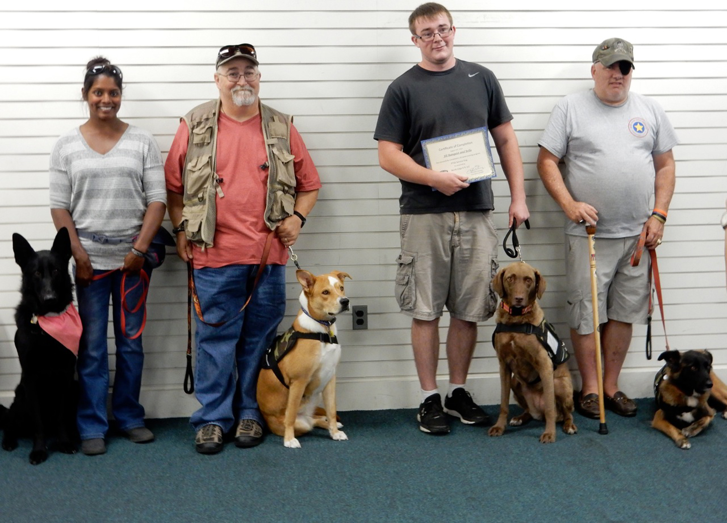 Paws for Peace is a program sponsored by Maine's Embrace A Vet organization that gives veterans suffering from Post Traumatic Stress Disorder a chance to train with a service dog at no charge. SUBMITTED PHOTO