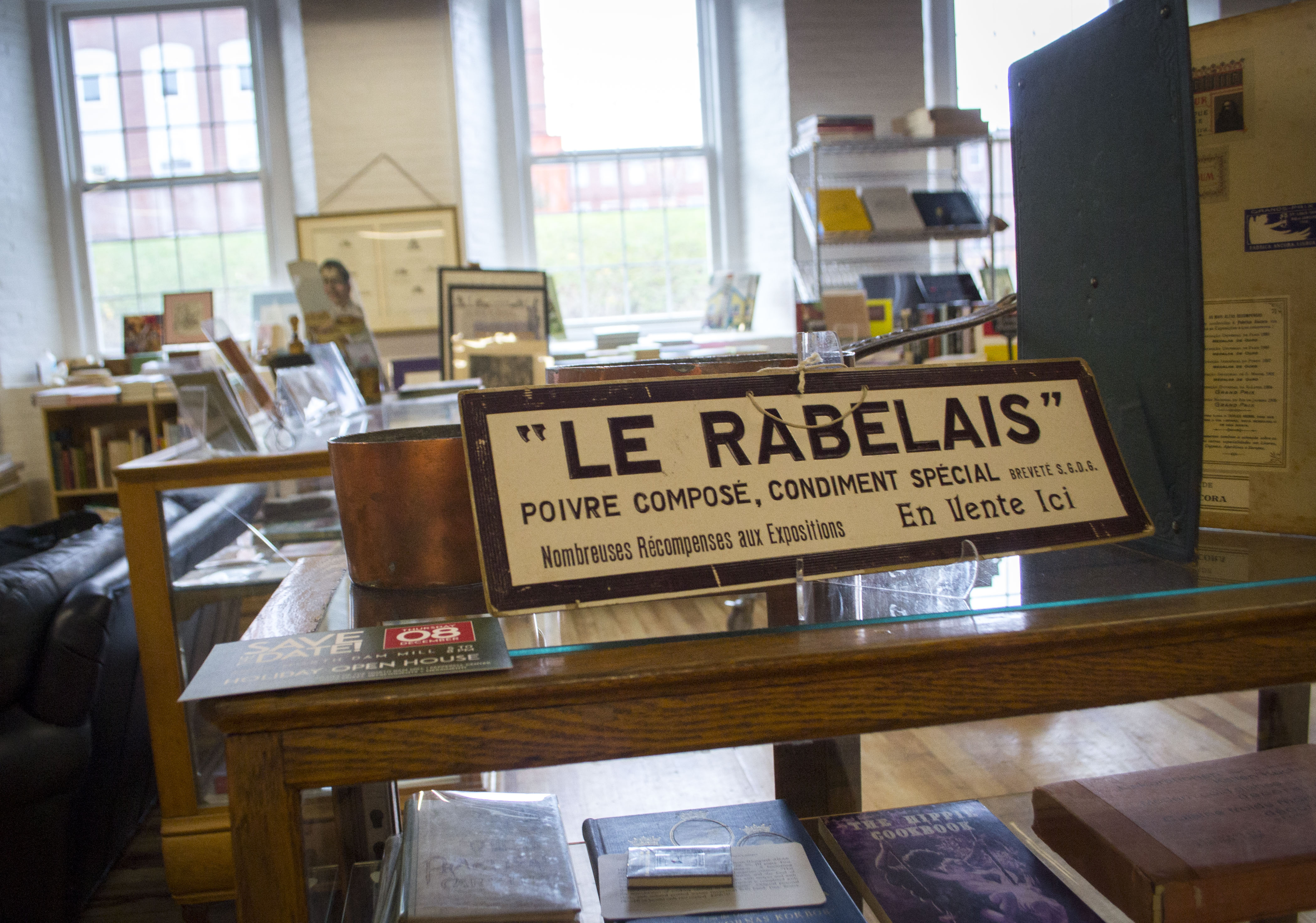 ALAN BENNETT/Journal TribuneAmong Rabelais' shelves sit more than 30,000 books on cooking, dining and the history of it all.