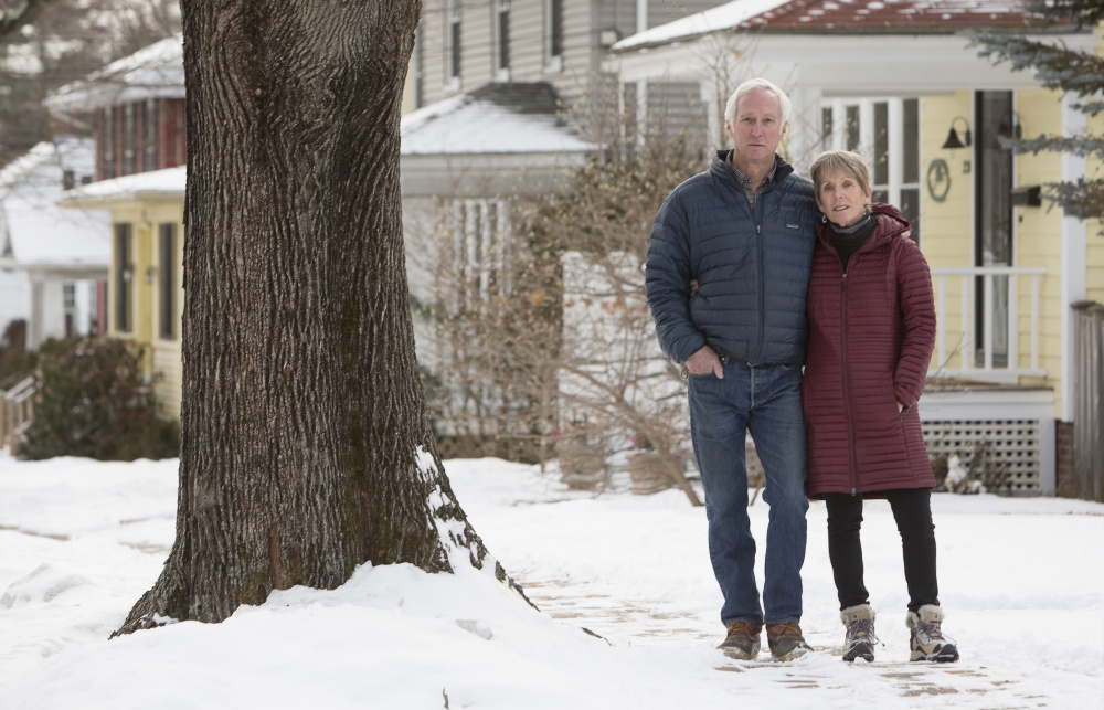 """Tom and Ellen Sidar, Bradley Street residents and members of the Friends of Deering Highlands group, say the city isn't doing enough to enforce zoning regulations when it comes to short-term rentals. """"Our city isn't even trying,"""" Tom Sidar said."""