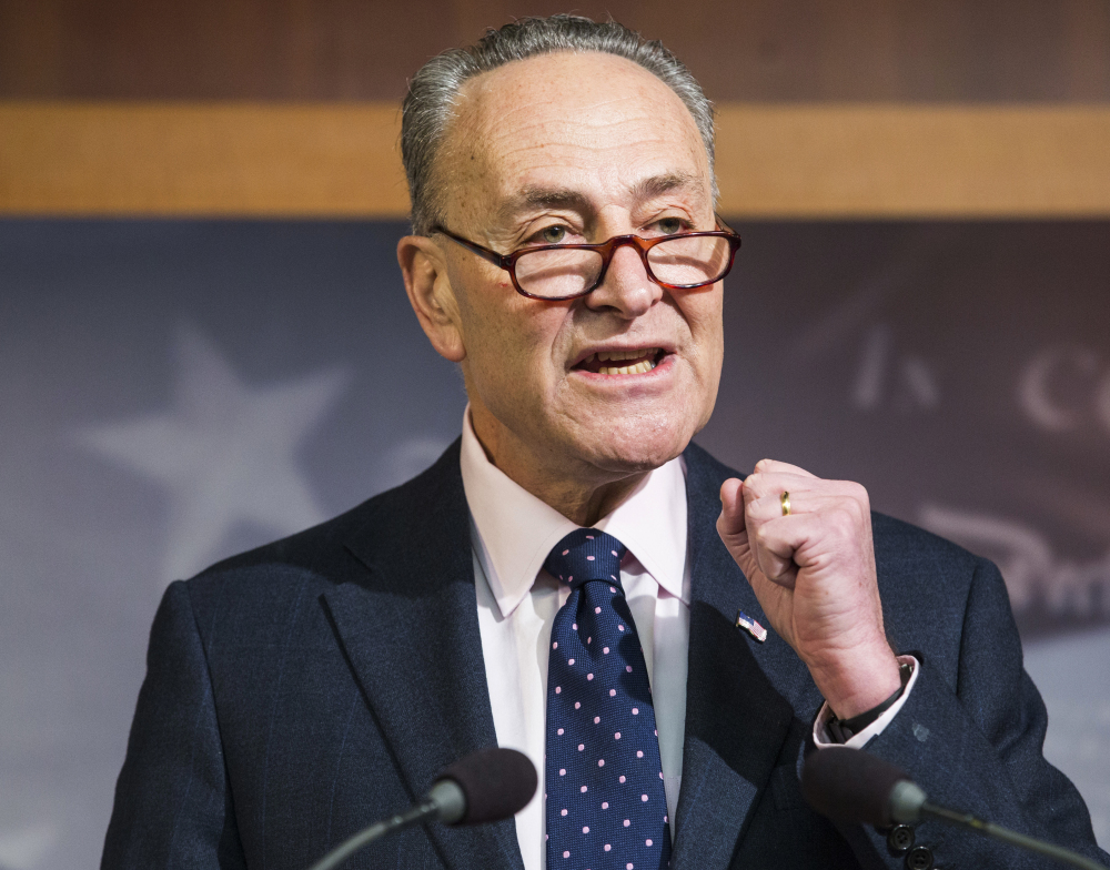 """Senate Minority Leader Charles Schumer said Wednesday that If Republicans rush tax reform, """"there will be many more Alabamas in 2018."""""""