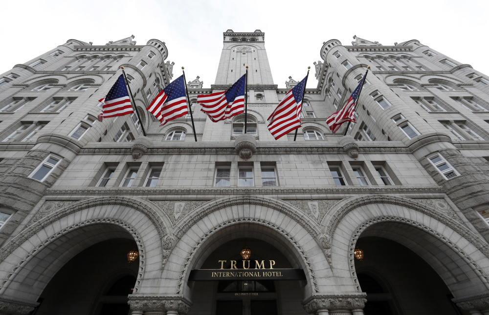 The Trump hotel in Washington may be drawing business away from both the taxypayer-owned D.C. convention center and one in nearby Maryland subsidized by taxpayers, violating the Constitutional ban on U.S. government officials profiting from their position.