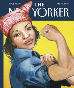 A New Yorker editor said Abigail Gray Swartz's artwork stood out from the many images she received about the women's march because of its depiction of Rosie the Riveter as a black woman.