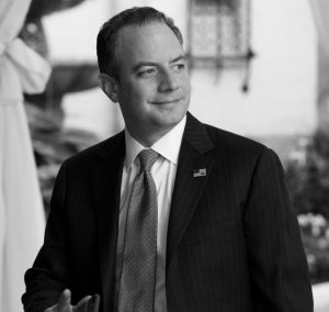 REINCE PRIEBUS, chief of staff for President-elect Donald Trump, arrives at Mar-a-Lago Dec. 28 in Palm Beach, Florida.