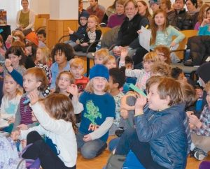 CHILDREN ATTEND Bowdoin College's 17th annual celebration of Martin Luther King Jr. Day.