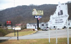 THIS PHOTO shows the law offices of Eric C. Conn in Stanville, Kentucky. Many of Conn's clients have lost their Social Security disability checks after he became the subject of a federal fraud investigation.