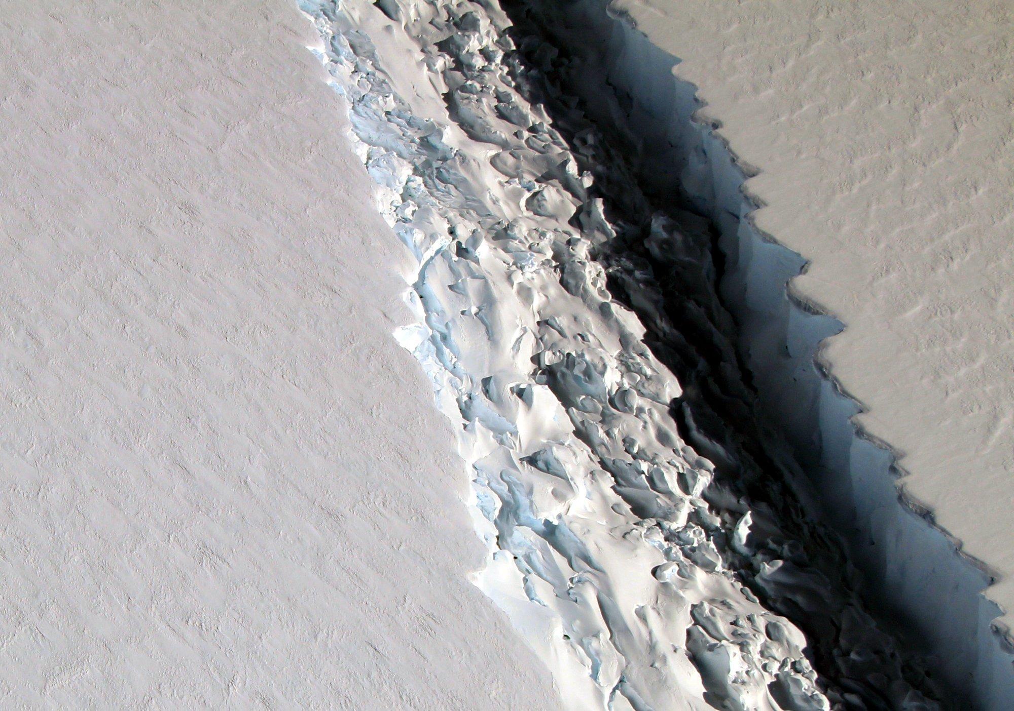 A shelf of ice will break off from the continent of Antarctica sometime in the coming months. SUBMITTED PHOTO/Courtesy of NASA