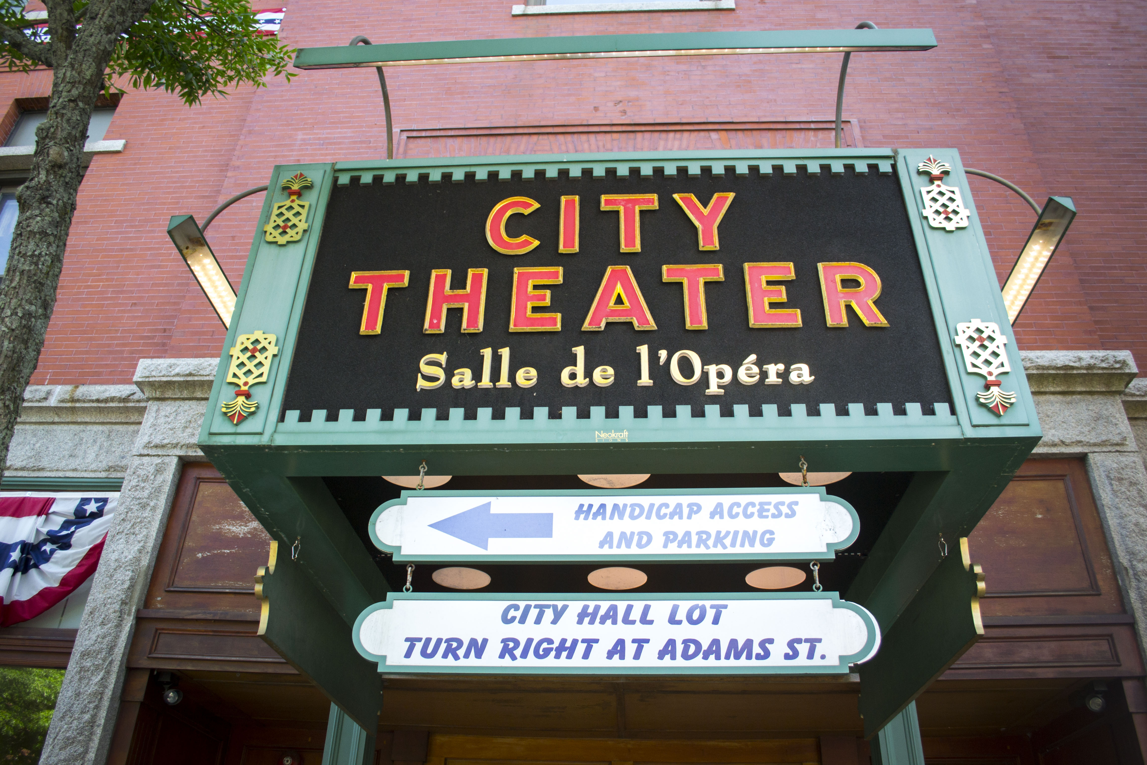 Biddeford's City Theater, pictured in July. ALAN BENNETT/Journal Tribune