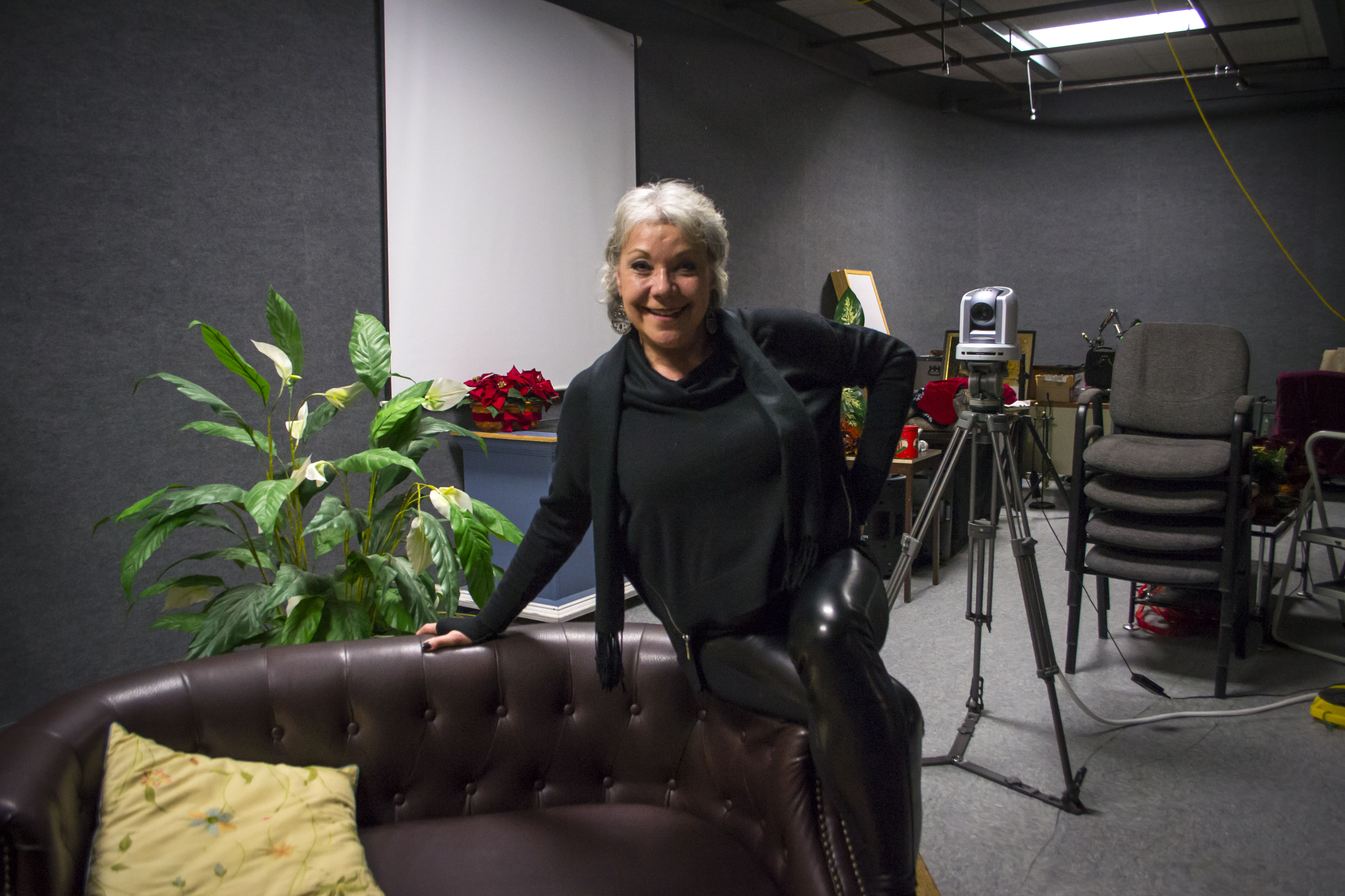 Local television host Toni Sipka, who formerly portrayed Marvel Comics' Spider-Woman, will be offering a free studio production program in February. ALAN BENNETT/Journal Tribune