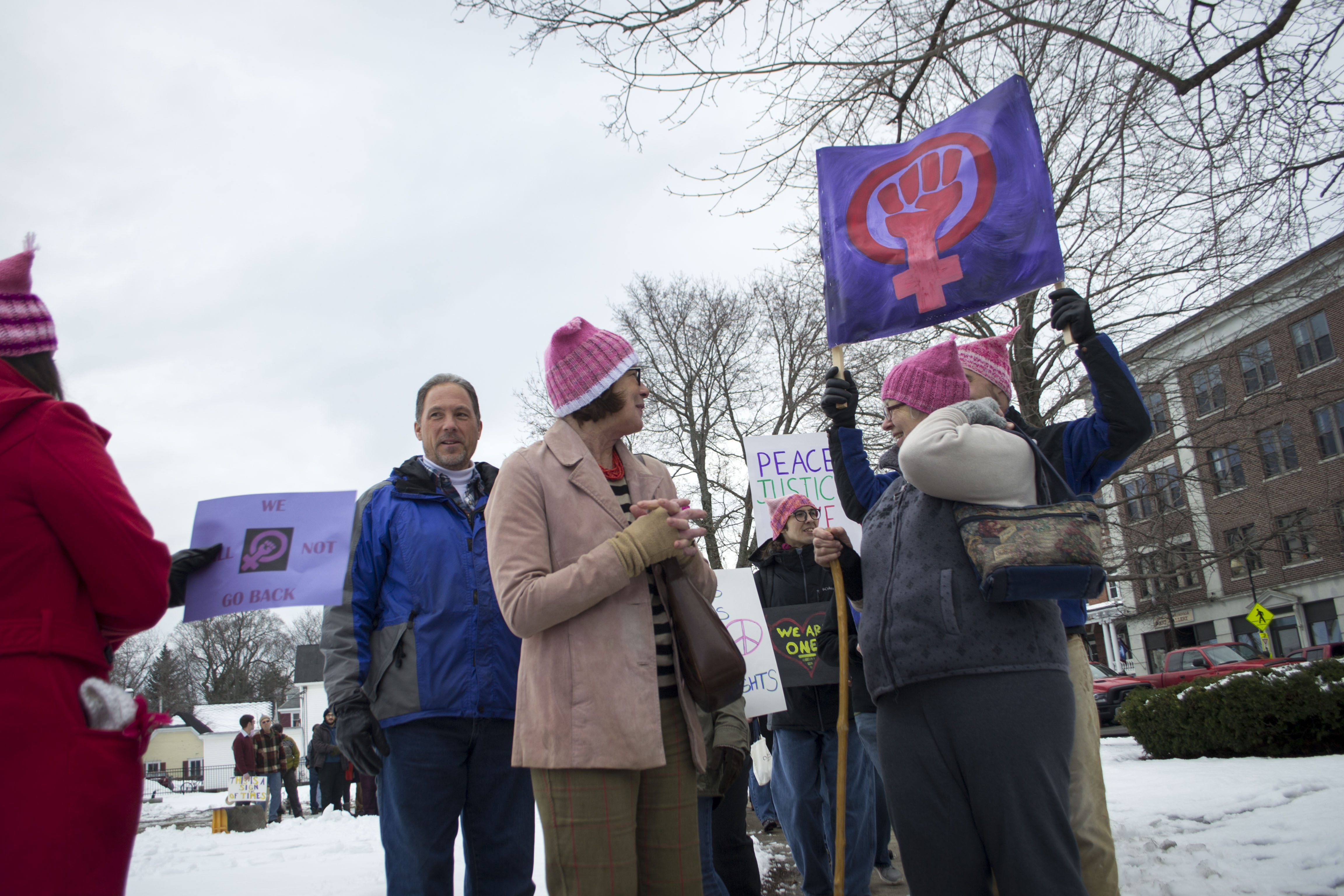 Marchers begin their stroll down Main Street from Central Park during the Women's March on Maine held in Sanford on Saturday. ALAN BENNETT/Journal Tribune