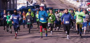 THE SHAMROCK 5K road race was held in Bath on Saturday. Here is the start of the race. See results on B3.