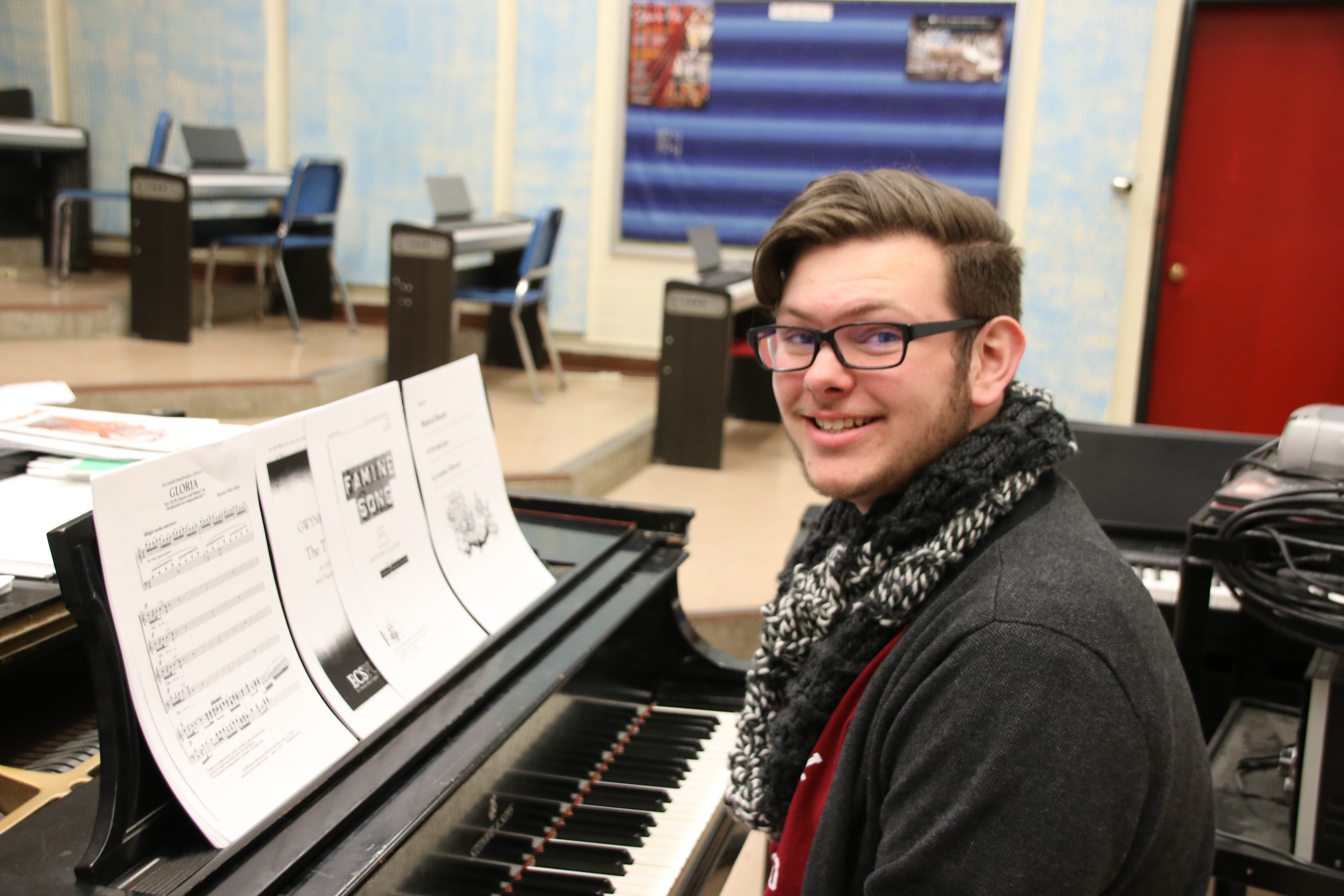 Caleb Randall, 16, of Acton, a junior at Sanford High School, has been selected to perform with the National Association for Music Education's All-Eastern Honors Mixed Choir in Atlantic City, New Jersey next month. TAMMY WELLS/Journal Tribune