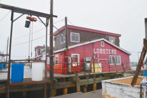 THE WHARF near Cook's Lobster and Ale House on Bailey Island in Harpswell, as seen on Wednesday, was auctioned off to Arthur Girard of AMG Holdings in Portland on Tuesday. The wharf is used by commercial fishermen and Portland ferry service Casco Bay Lines.