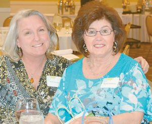 VOLUNTEER OF THE YEAR Beth Newman, left, with Bonnie Zacharias at the CHANS Home Health & Hospice Volunteer Appreciation Event