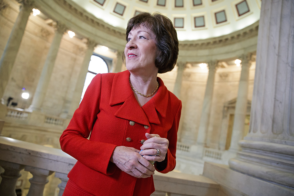 Sen. Susan Collins on Capitol Hill on March 28.