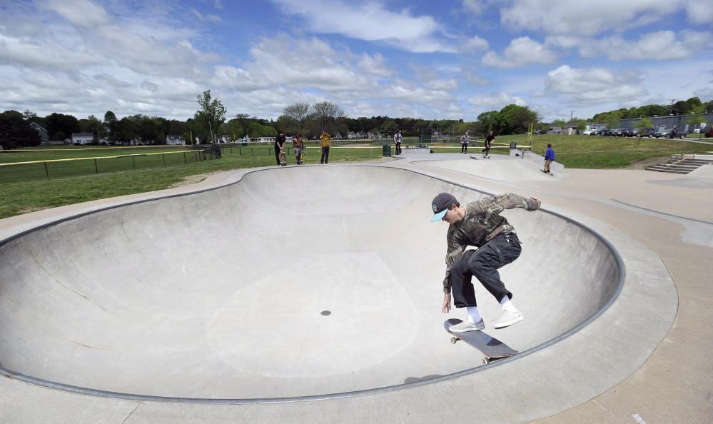 Casey McAndrew of Portland skates in the park, which some call the best skate park in Maine. The Portland Parks and Recreation Facilities Department plans two public meetings about the park.