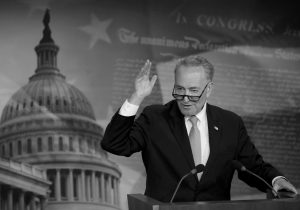 """SENATE MINORITY LEADER CHUCK SCHUMER, of N.Y., speaks to reporters during a news conference on Capitol Hill in Washington. Schumer says the $1 trillion plan funding the government through September is a """"good agreement for the American people, and takes the threat of a government shutdown off the table."""""""
