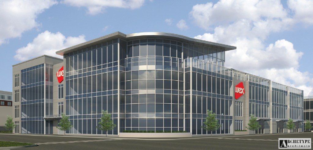 The Wex headquarters will be a four-story, 100,000-square-foot building with 10,000 square feet of retail space on the first floor.