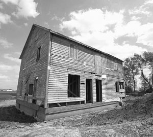 THIS PHOTO shows the Daniel Schrock home near Chesterville, Illinois. The structure is to be part of the new Illinois Amish Heritage Center.