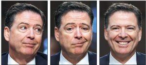 FORMER FBI DIRECTOR James Comey appears before a Senate Intelligence Committee hearing on Capitol Hill on Thursday in Washington.