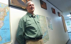 JOHN DEVER, who teachers history at Mt. Ararat High School, is Sagadahoc County Teacher of the Year and is still in the running for Maine Teacher of the Year thanks to a nomination by a student.