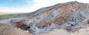 THE JEBEL IRHOUD SITE in Morocco where the oldest known fossils of human species have been unearthed, revealing an early evolutionary step toward developing the fully modern human body.