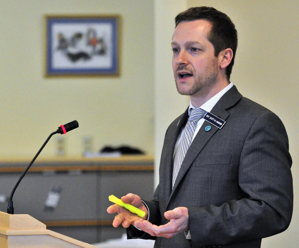 Rep. Scott Hamann, seen in 2015, undermined civil discourse in Maine politics when he posted a Facebook rant touting violence as the way to deal with our fellow Americans when we're tired of talking to them.