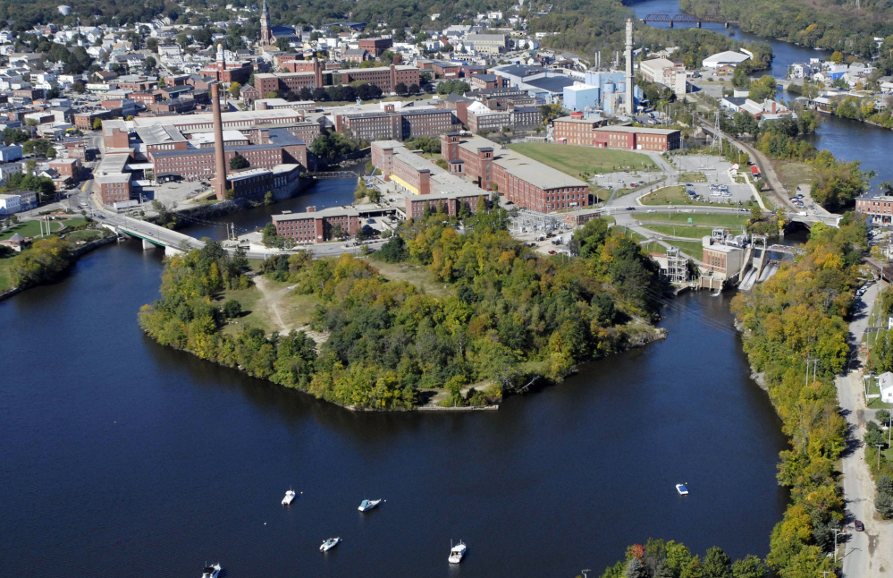 While the west side of Saco Island teems with activity, the 6 acres to the east remain largely undeveloped.