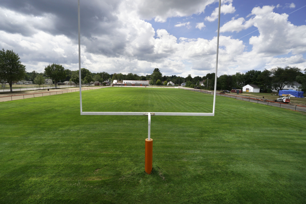 Right now it's a large patch of grass. But by the time football season begins, the new-look Waterhouse Field will have temporary bleachers – yes, permanent ones have been ordered – new lights and a scoreboard with video replay capability. All that while retaining a feeling of intimacy.