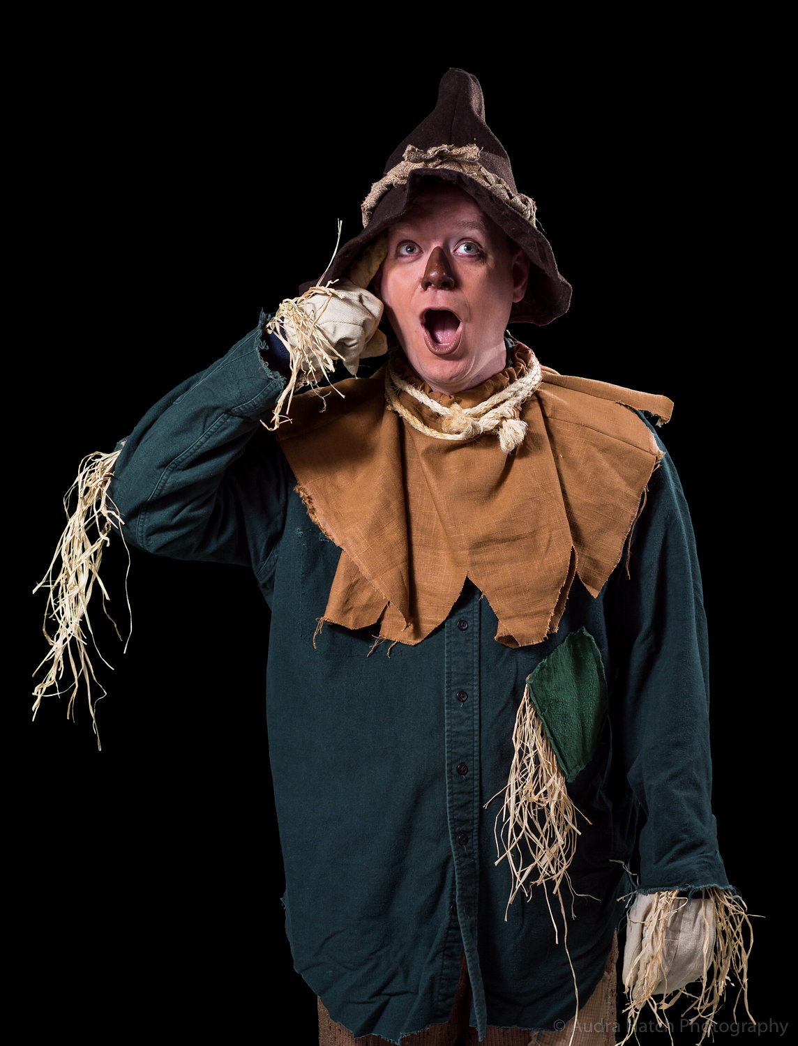 Justin Stebbins as Scarecrow in City Theater's production of