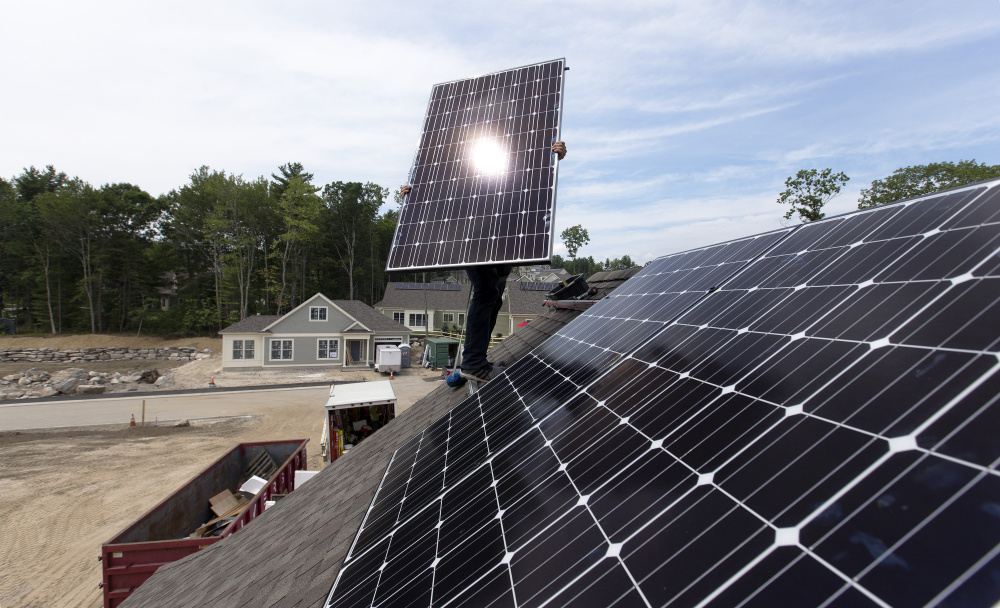 "Solar backers were unhappy with L.D. 1504's defeat. ""Clean energy in Maine has once again fallen victim to Gov. LePage's and utilities' anti-progress stance,"" said Emily Green of the Conservation Law Foundation."