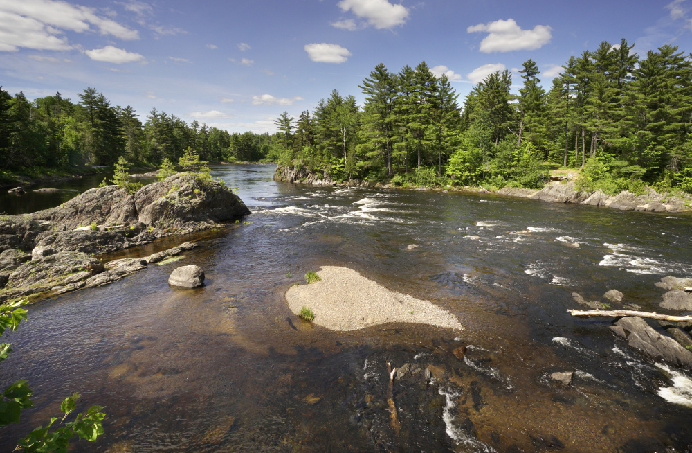 The East Branch of the Penobscot River near Whetstone Falls in the Katahdin Woods and Waters National Monument, photographed in June.