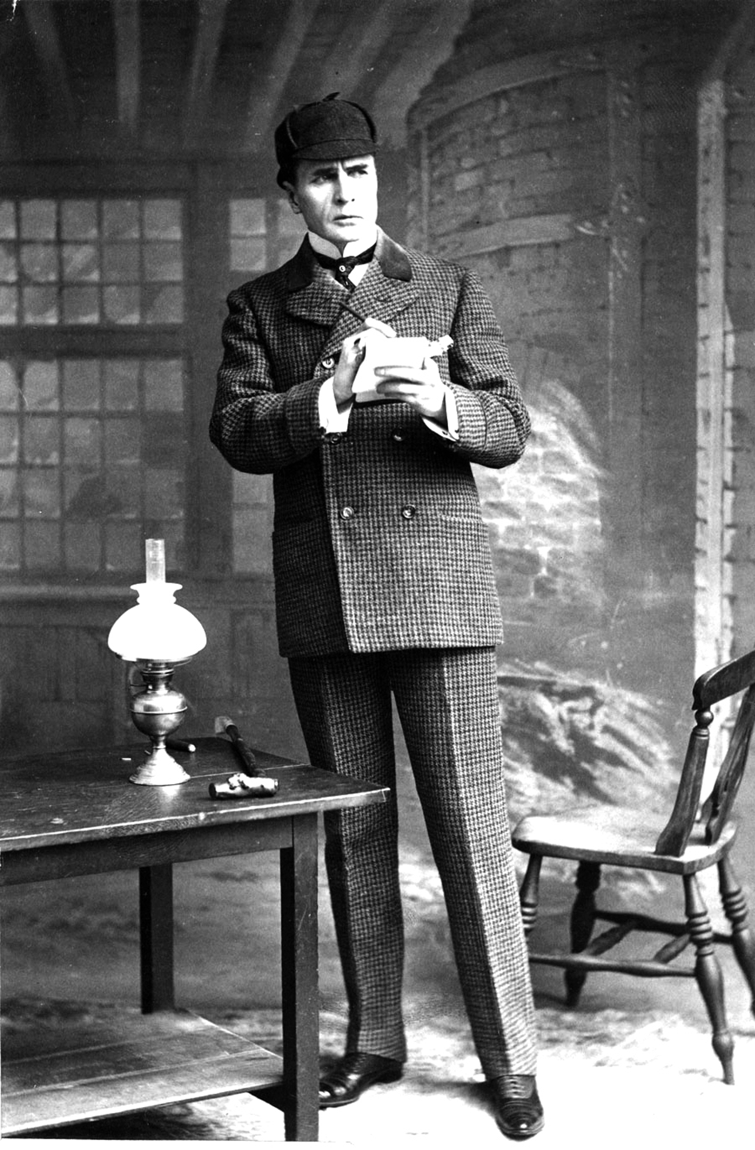 Stage actor William Gillette stars in the original silent film adaptation of 'Sherlock Holmes' (1916), to be shown with live music by Jeff Rapsis on Thursday, Aug. 17 at 7 p.m. at the Leavitt Theatre in Ogunquit. SUBMITTED PHOTO