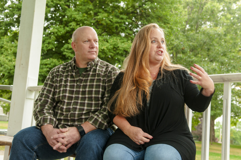 Micheal and Shauna Drashcovich talk about their missing daughter Megan Gregory during an interview Wednesday in Gardiner.