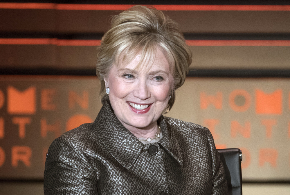 Former Secretary of State Hillary Clinton says she's not finished with politics, but won't run for president in 2020.
