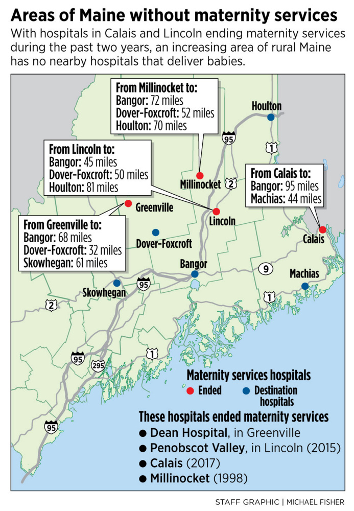 As maternity services vanish in rural Maine, mothers expect to travel
