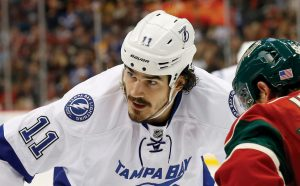 BRIAN BOYLE, here playing for the Tampa Bay Lightning, has been diagnosed with leukemia. Boyle, a member of the New Jersey Devils this season, vows to continue playing this season while he fights the disease.
