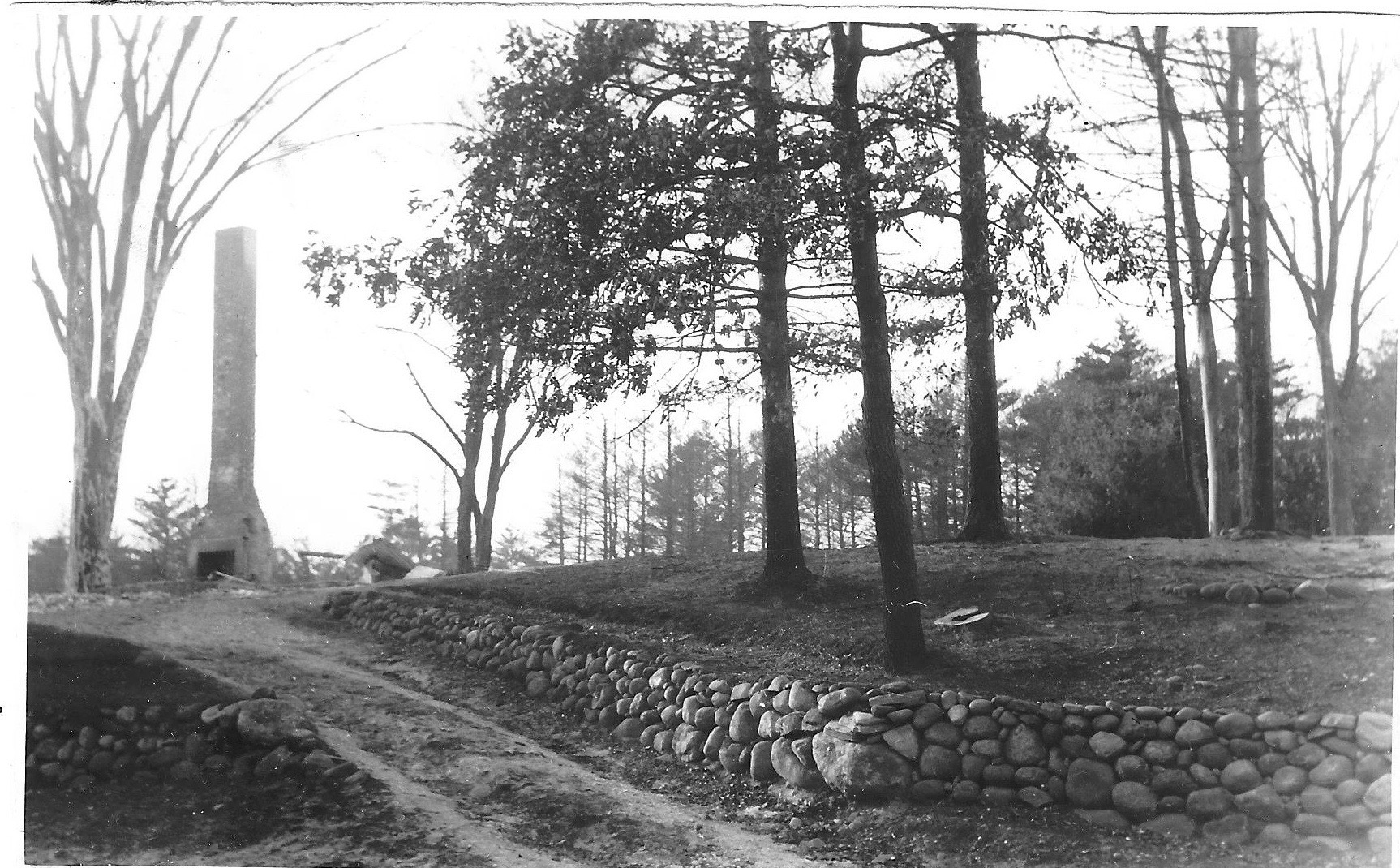 Raymond and  Ethel Bradeen's home on Chadbourne's Ridge Road, in North Waterboro was one of many that burned in the 1947 fires.   It's a view taken from near the intersection of the Webber Road. The Bradeens re-built on the same site.  COURTESY PHOTO/Linda Hanscom
