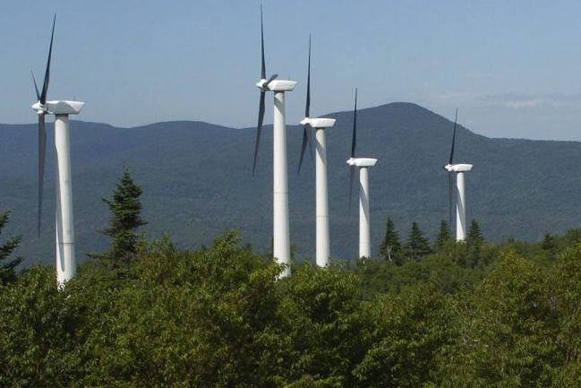 Wind turbines generate power at the Searsburg Wind Power Facility in Searsburg, Vt.  Associated Press file/Tim Roske