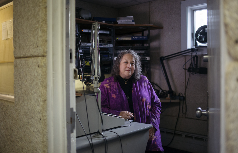 "Dale Robin Goodman is development director at community radio station WMPG in Portland. ""Community radio is important because it is giving people an avenue for free speech and preserving public access to the public airwaves,"" Goodman said."