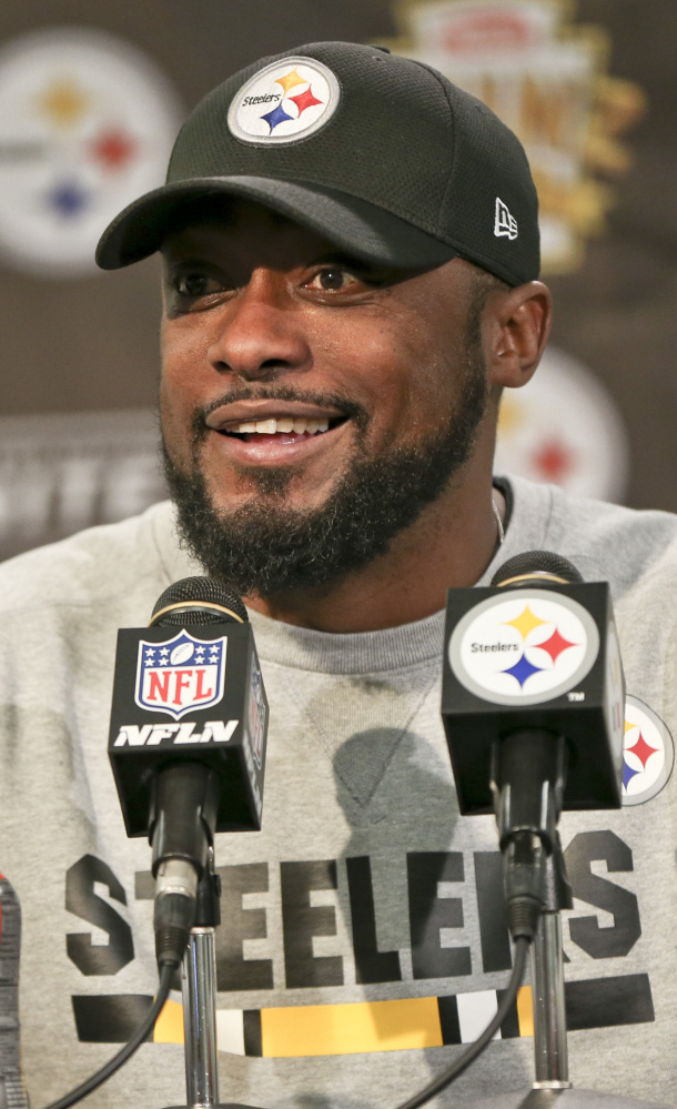 Steelers Coach Mike Tomlin did what most coaches won't: Say his team is capable of winning it all and hype a game with the Pats.