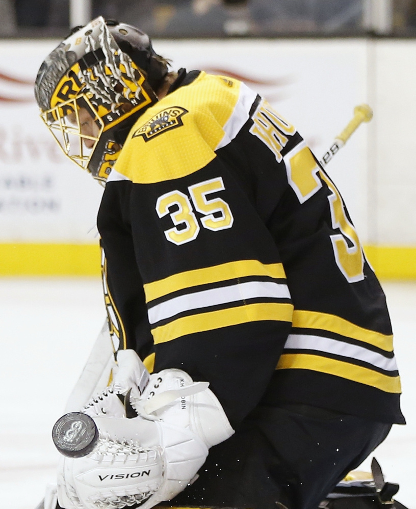 Meanwhile, backup Anton Khudobin is 7-0-2 and led the Bruins to their recent four-game winning streak.