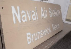 THE SIGN that once stood at the entrance of the former Brunswick Naval Air Station now sits inside the Brunswick Naval Museum and Memorial Gardens.