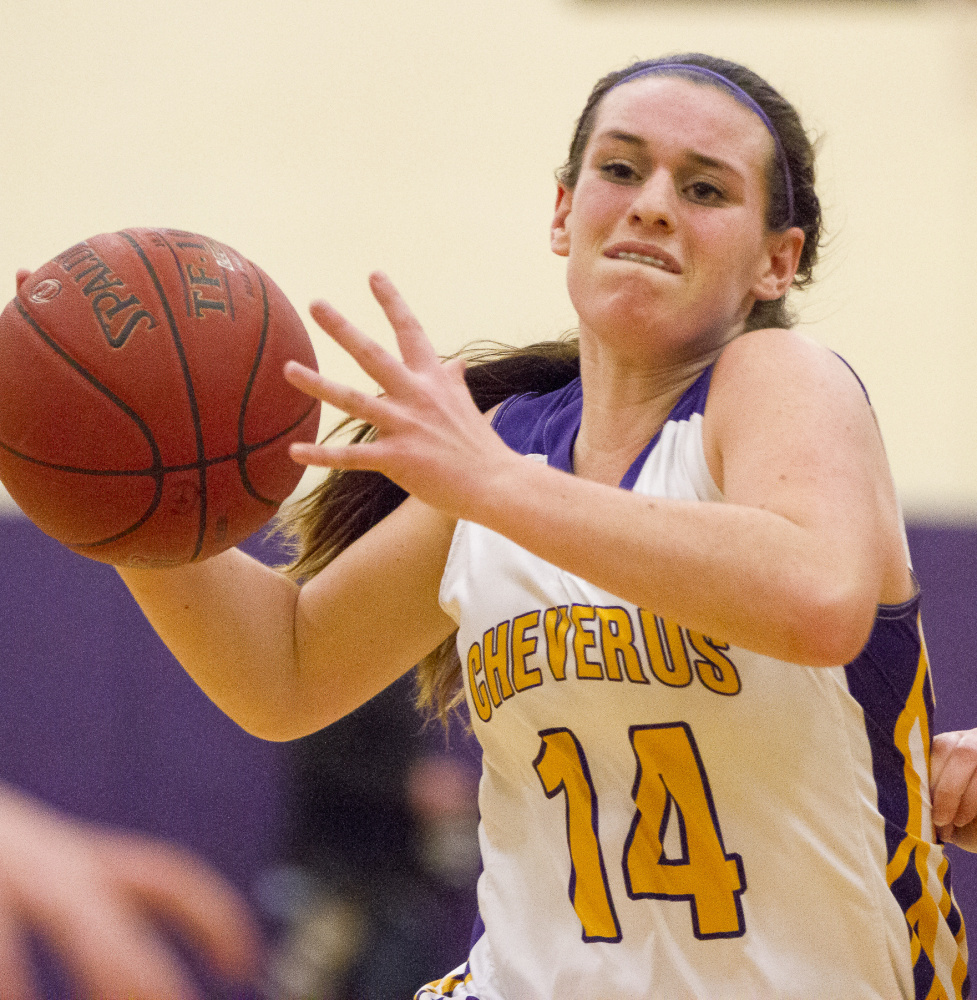 Abby Cavallaro, with Emme Poulin, form what may be the best backcourt in the SMAA for Cheverus, a team that figures to challenge for the regional championship this season.