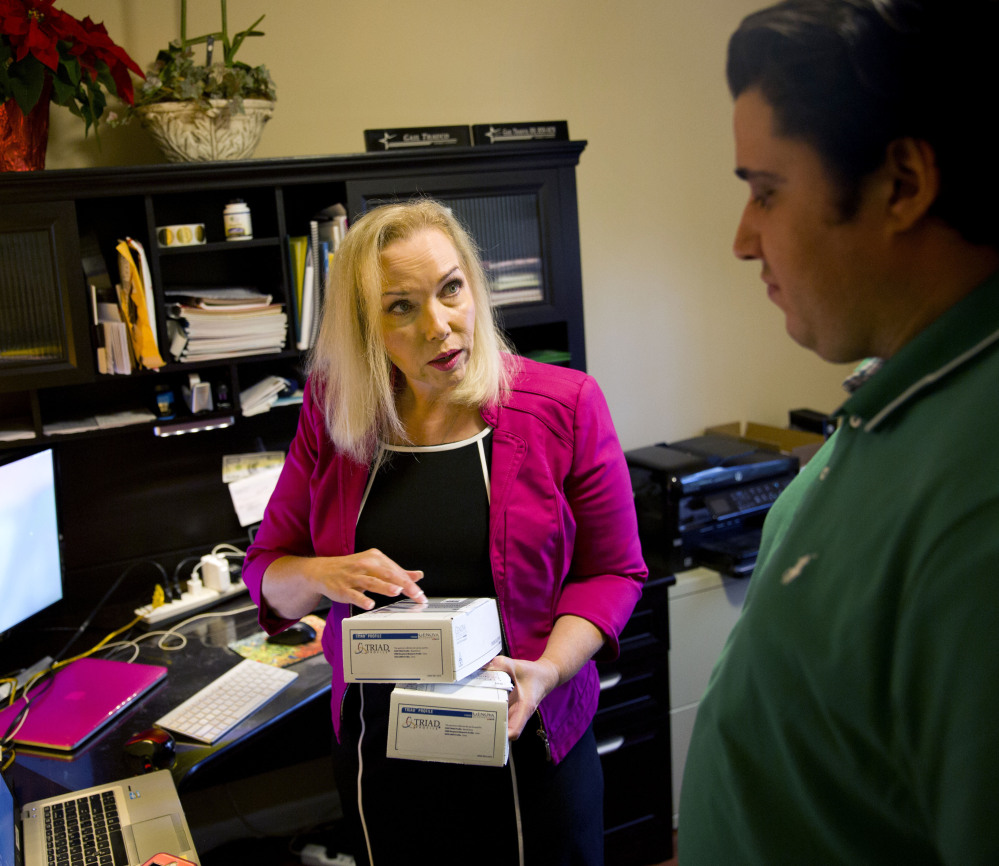Gail Trauco, owner of The PharmaKon in Georgia, used a health broker to find a plan with more choices after Trauco's original insurer restricted the firm to a health maintenance organization with fewer available doctors.