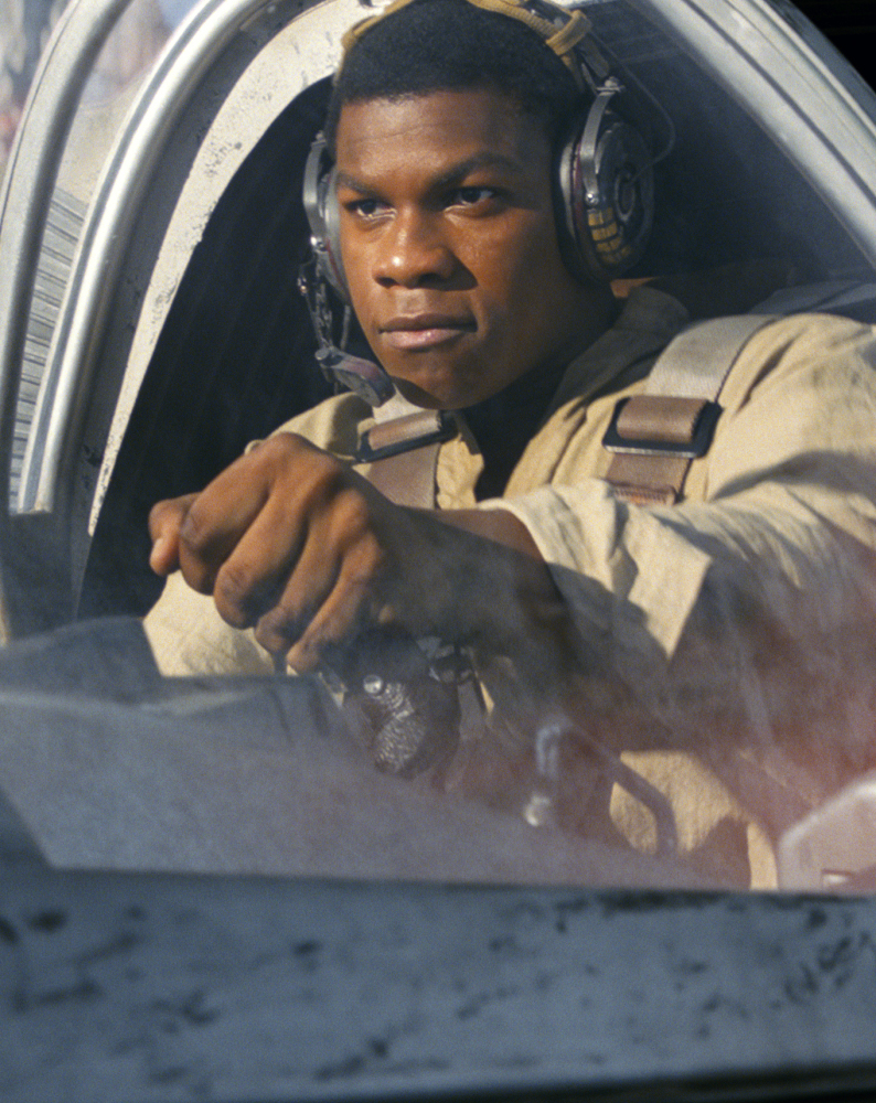 "John Boyega plays Finn in ""Star Wars: The Last Jedi."" He says he's awed by his new stature and new roles."